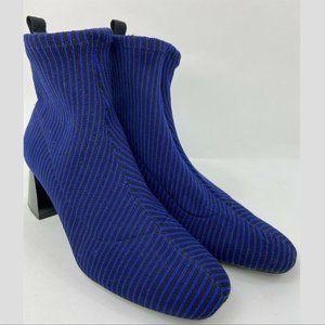 Zara TRAFALUC Blue Striped Sexy Boot!  39/US 8.5-9